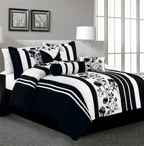 black and white comforter sets king piece king rianna black and white comforter set