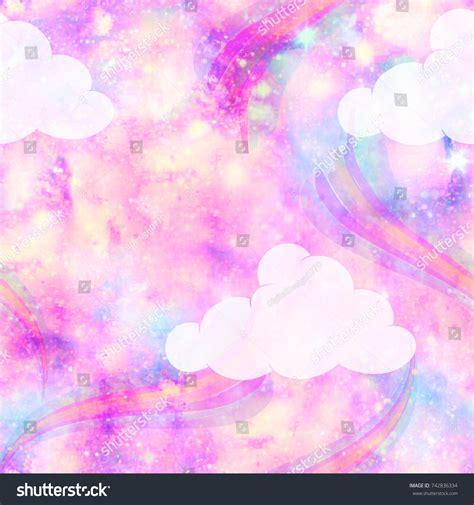 unicorn cloud unicorn galaxy cloud rainbow fantasy print seamless stock