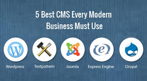 best cms to use 5 best cms every modern business must use trignosoft
