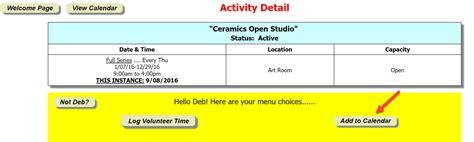 Calendar Kiosk 10 3 16 Add To Calendar Viewers Can Receive Calendar