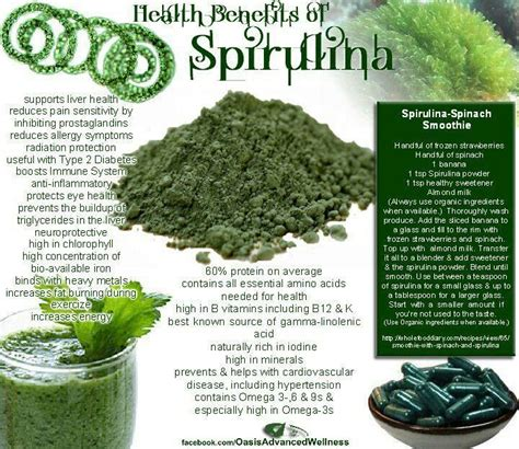 Spirulina Detox Recipes by Spirulina Facts And Smoothie Recipe Food