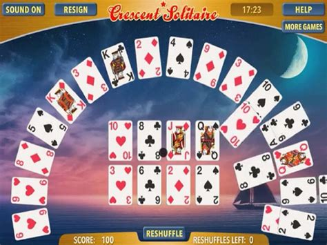 crescent solitaire juego  en juegosjuegoscom