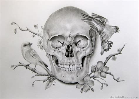 skull and flower tattoo skull flower drawing search things to draw
