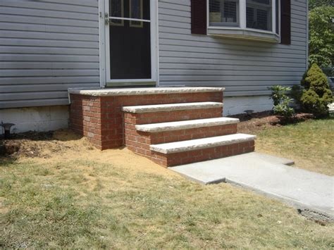 Brick Stairs Design Steps For Front Of House Designs Ideas Picture Brick Front Steps Keansburg Jpg Provided By