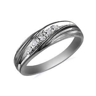 mens black rhodium white gold diamond promise ring