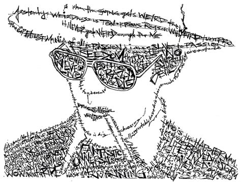 Drawing W Words by S Thompson Black And White Word Portrait Drawing