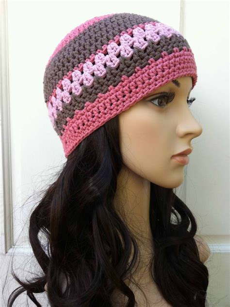 crochet hat pattern womens beanie pattern no 208