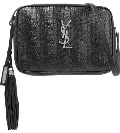 saint laurent monogram camera lou  black leather