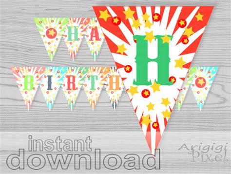 printable circus birthday banner happy birthday banner printable circus birthday party