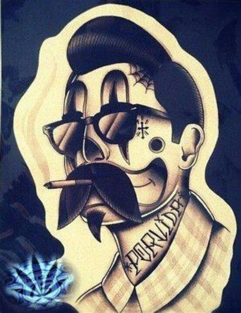 payaso tattoo designs payaso lowrider gangster homie posts