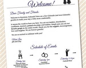 wedding welcome letter template printable wedding welcome letter timeline of events