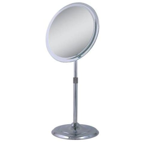 telescopic bathroom mirror zadro 9 5 in x 15 5 in telescoping vanity mirror in chrome z9v5 the home depot