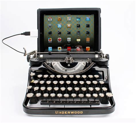 Modern Home Decor Catalogs usb typewriter computer keyboards the green head