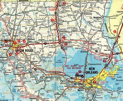 louisiana freeway map interstate guide interstate 12