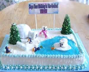 Winter Scene Cakes   http://www.cake decorating corner.com/