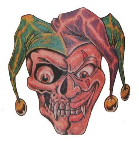 skull joker tattoo vorlagen clown tattoo img85 clowns tattoo design art flash