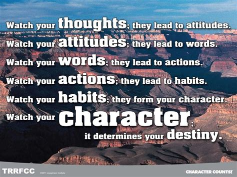 Your Character Determines Your Destiny What Will Matter