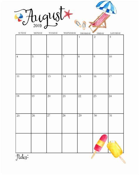 cute printable  monthly calendar cute