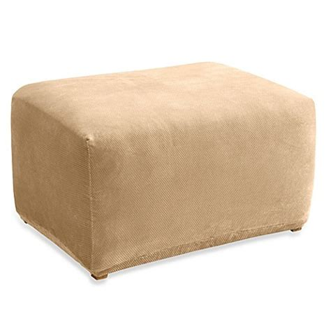bed bath beyond ottoman sure fit 174 stretch pique ottoman slipcover bed bath beyond