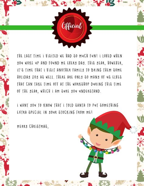 free printable on the shelf letter on the shelf goodbye letter free printable