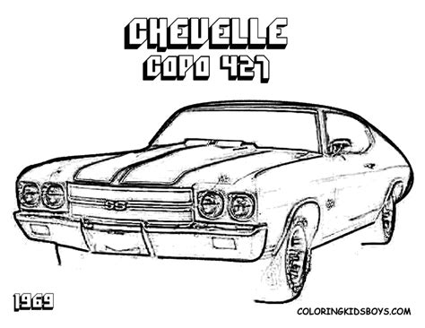 coloring page muscle cars muscle car free coloring pages