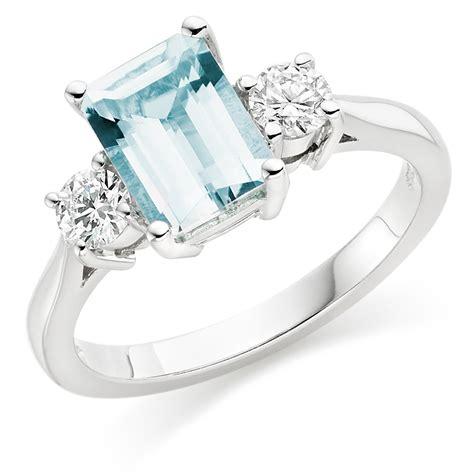 18ct white gold and aquamarine ring 0000146
