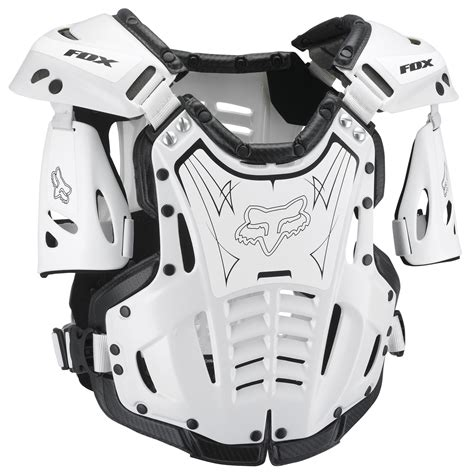 fox motocross body fox racing new youth airframe chest protector white