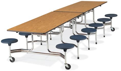 Cafeteria Tables With Stools by Virco Mts Series Stool Cafeteria Table