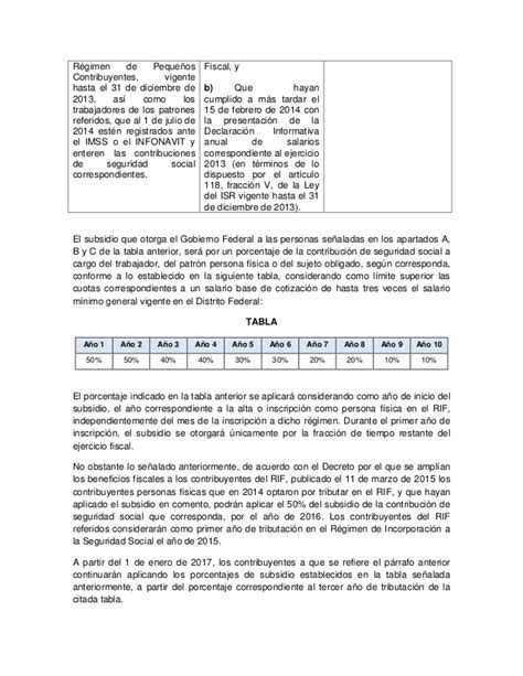regimen ley del infonavit r 233 gimen de incorporaci 243 n fiscal 2015