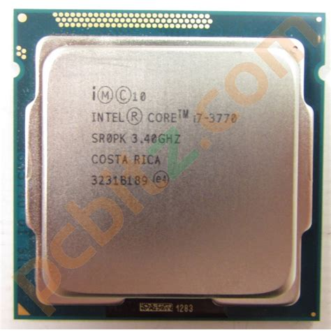 I7 3770 Sockel by Intel I7 3770 Sr0pk 3 40ghz Socket Lga1155 Cpu Ebay
