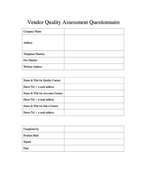 35 assessment questionnaire exles