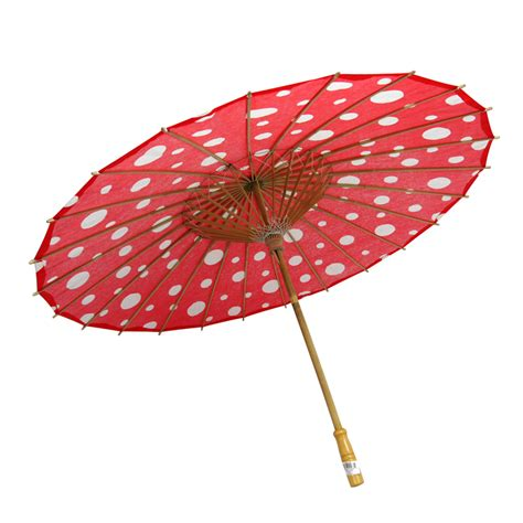 Paper Umbrella - 32 quot polka dot paper parasol umbrellas on sale now