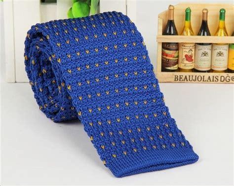 mens tie knitting pattern s blue pattern knit tie knitted tie necktie narrow