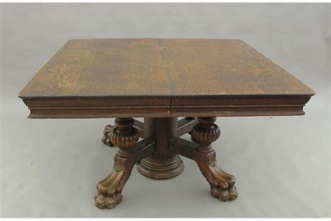 quarter sawn oak claw foot dining room table with 8