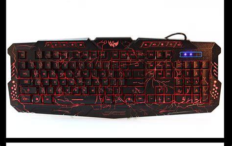 Keyboard Gaming 200 Ribuan purple blue backlight led pro gaming keyboard m200 usb