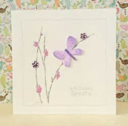 handmade sympathy card lilac butterfly three dot cards
