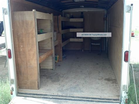 2008 haulmark enclosed 16 trailer with custom shelving
