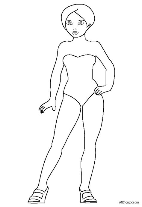 Girl Model Coloring Page | free girls top model coloring pages