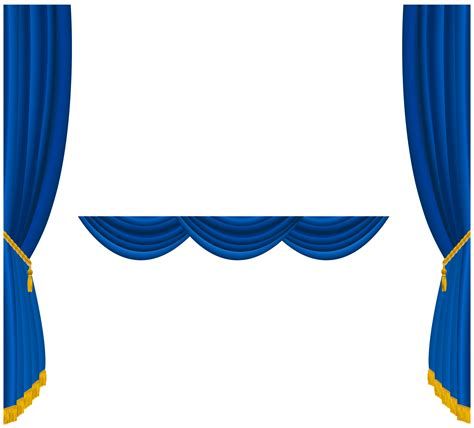 Red And Blue Valance Transparent Blue Curtains Decoration Png Clipart Gallery