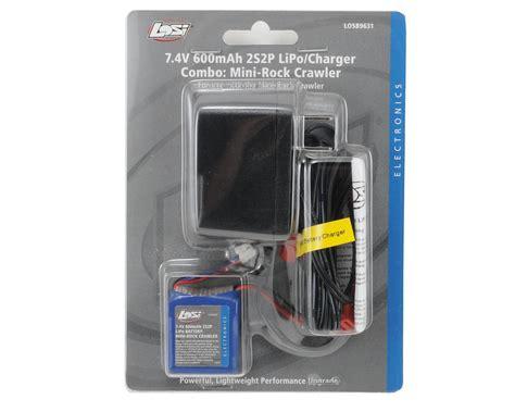 losi lipo charger losi 2s2p lipo battery pack charger combo 7 4v 600mah