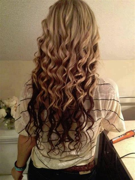 reverse ombre at home reverse ombre curls long hairstyles how to