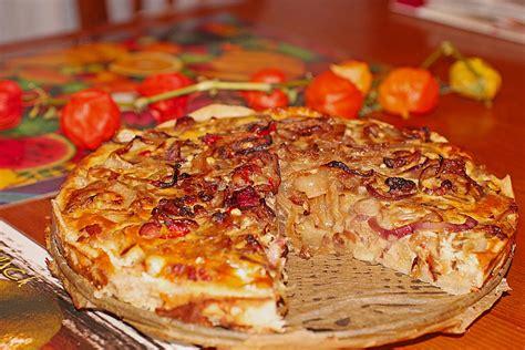 zwiebel speck kuchen speck zwiebel kuchen rezept mit bild nanabi