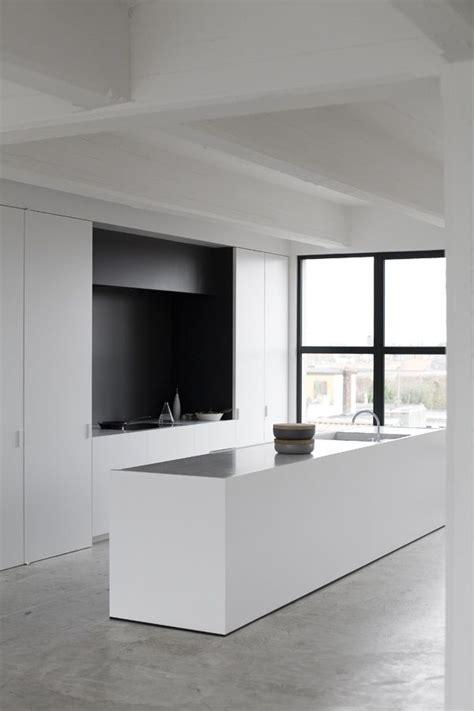 concrete kitchen floor white minimalist kitchen with concrete floor interior