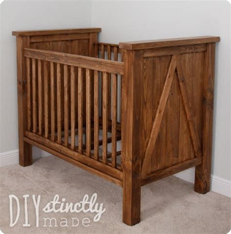 Handmade Wooden Crib - rustic farmhouse crib for 200