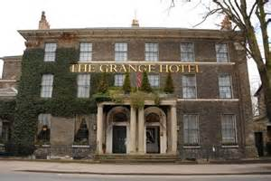 front of hotel at picture of the grange hotel