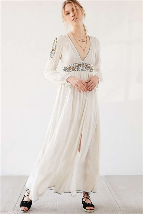 Style Embroidery Dress 2016 new europe bohemian style embroidery maxi dress