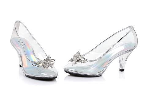clear shoes cinderella clear slipper with silver butterfly