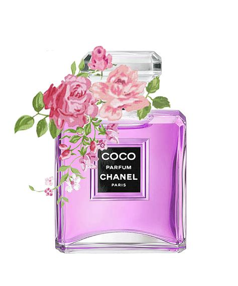 Tas Parfum Chanel chanel perfume wich flower mixed media by
