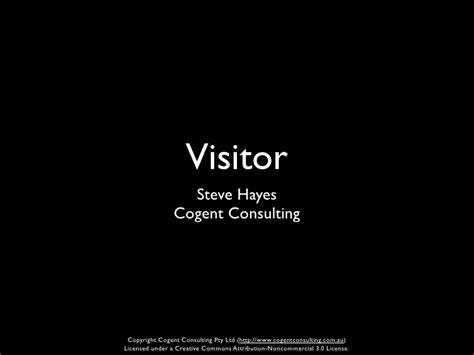 visitor pattern slides visitor pattern by steve hayes