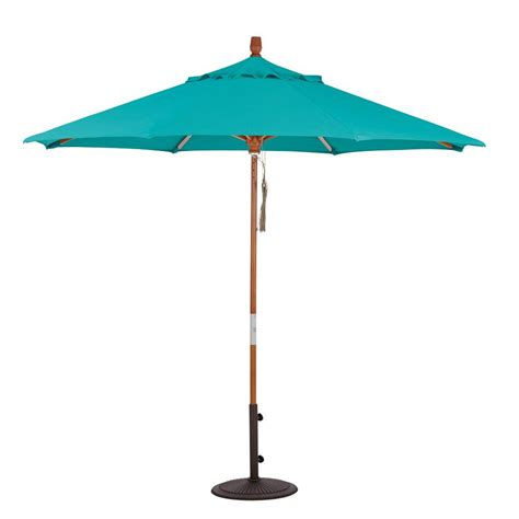 Patio Umbrella Sunbrella Hton Bay 11 Ft Led Offset Patio Umbrella In Sunbrella Sand Yjaf052 A The Home Depot